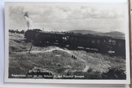 AK Brocken Bockenbahn Kurz Vo Der Einfahrt In Den Bahnhof 1955 Gebraucht #PE657 - Deutschland