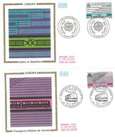 FDC Europa Cables Et Satellites - Transports Urbains De Demain - 2 Enveloppes (75 Paris - 67 Strasbourg 30/04/1988) - FDC