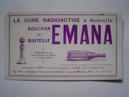 BUVARD Ancien : PUBLICITE DOCTEUR / LABORATOIRES EMA - CURE RADIOACTIVE EMANA / HOPITAL / MEDECINE - Publicités