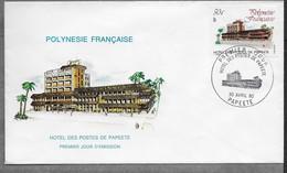 1980  Polynésie Française FDC N° 152 ..Hotel Des Postes De Papeete. - FDC