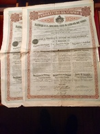 EMPRUNT  DE   L' ÉTAT  BULGARE  4 1/2% OR  1907  -------Deux  Obligations  De  500 Frs - Non Classés