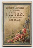 """Petit Calendrier Publicitaire """"F. DESTOUESSE Imprimerie, Lithographie, Bordeaux"""" - Année 1888 - 5,7 X 3,7 Cm - TBE - Publicité"""