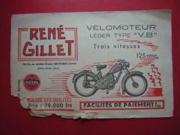 BUVARD RENE GILLET 126 BIS AV ARISTIDE BRIAND MONTROUGE VELOMOTEUR LEGER TYBE V B 3 VITESSES 125 CMC MOTUL MAUVAIS ETAT - Moto & Vélo