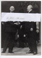 Charles De Gaulle  Conrad Adenauer 01/12/1959 Palais De L'Elysée Photo Orginale Presse Keystone - Personnes Identifiées
