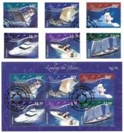 New Zealand 2002 Boats - Leading The Waves Set Of 6 + Minisheet Used - New Zealand