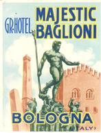 ETIQUETA DE HOTEL  - GRAND HOTEL MAJESIC BAGLIONI  -BOLOGNA -ITALIA - Etiquetas De Hotel