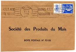 LOT - Dépt N° 46 = CAHORS 1958 = PUB PROVINS +  FLAMME RBV  ' BONS PTT 6% / SECURITE 100%' - Publicidad
