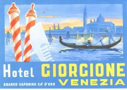 ETIQUETA DE HOTEL  - HOTEL GIORGIONE  -VENEZIA  -ITALIA - Etiquetas De Hotel