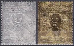 Elfenbeinküste Ivory Coast Cote D'Ivoire 1980 Geschichte Persönlichkeiten Präsident Félix Houphouët-Boigny, Mi. 665-6 ** - Côte D'Ivoire (1960-...)