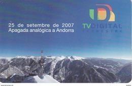 AND-158 TARJETA DE ANDORRA TV. DIGITAL DEL 2/08 TIRADA 15000 - Andorre