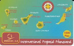 TARJETA DE ESPAÑA DE PREPAGO DE LAS ISLAS CANARIAS 1000 PTAS (SIN ACTIVAR) - Sin Clasificación