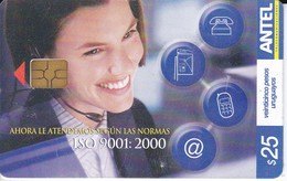 Nº 405 TARJETA DE URUGUAY DE ISO 9001 - Uruguay