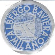 ETIQUETA DE HOTEL  - ALBERGO BAVIERA  -MILANO  -ITALIA - Etiquetas De Hotel