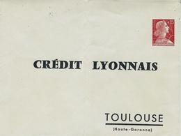 1960- Enveloppe E P Muller 0,25  Rouge  De CREDIT LYONNAIS  TOULOUSE  Non Utilisée - Entiers Postaux