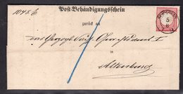 DR, EF Mi.-Nr. 19 Auf Insinuationsdokument - Allemagne