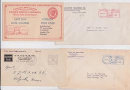 COVER METER MAIL USA LOT OF 8 COVERS CHICAGO ORANGE LEXINGTON BOSTON WILKES-BARRE MIAMI NEW YORK - United States