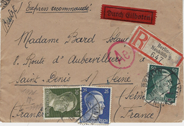 1943- Enveloppe D'un S P O   De Berlin En Express Recc.  Affr. 1,05 M  Pour St Denis - Marcophilie (Lettres)