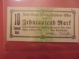 ESSEN FRIED.KRUPP 10.000 MARK 1923 - [11] Emissions Locales