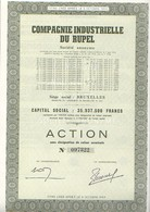 Action De  Compagnie Industrielle Du Rupel Bruxelles - Actions & Titres