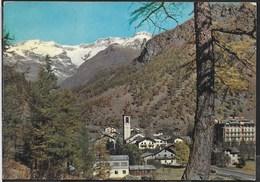 VAL D'AOSTA - GRESSONEY LA TRINITE' - PANORAMA SUL M.ROSA - VIAGGIATA 1963 FRANCOBOLLO ASPORTATO - Italia