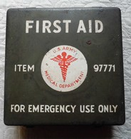PETITE VALISETTE MÉTAL FIRST AID - U.S. ARMY - Equipement