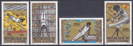 Elfenbeinküste Ivory Coast Cote D'Ivoire 1980 Sport Spiele Olympia Olympics Moskau Turnen Gymnastics, Mi. 649-2 ** - Côte D'Ivoire (1960-...)