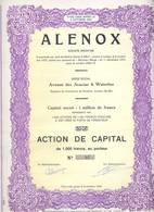 Action De Capital De S.A Alenox Waterloo - Actions & Titres