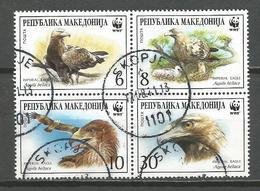Mn Macedonia 2001. Birds,WWF ,used Set - W.W.F.