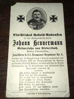 Sterbebild Wk1 Ww1 Bidprentje Avis Décès Deathcard KUK Dragoner Regiment 4 CHOLM Russisch Polen Riedersbach Blutvergifun - 1914-18