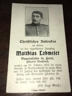 Sterbebild Wk1 Ww1 Bidprentje Avis Décès Deathcard RIR2 21. Oktober 1914 Aus Forn - 1914-18