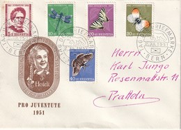 SUISSE 1951 ENVELOPPE PRO JUVENTUTE DE BERNE OBLITERATION THEME OURS - Pro Juventute