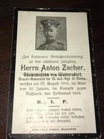 Sterbebild Wk1 Ww1 Bidprentje Avis Décès Deathcard IR13 20. August 1915 Aus Waltersdorf - 1914-18