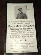 Sterbebild Wk1 Ww1 Bidprentje Avis Décès Deathcard IR11 5. Mai 1915 Aus Reichersdorf - 1914-18