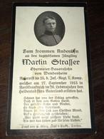 Sterbebild Wk1 Ww1 Bidprentje Avis Décès Deathcard IR25 27. September 1915 Aus Wendenheim - 1914-18