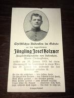 Sterbebild Wk1 Ww1 Bidprentje Avis Décès Deathcard 26. Januar 1915 Aus Aubenham - 1914-18