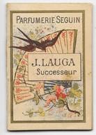 """Petit Calendrier Publicitaire """"Parfumerie SEGUIN, J. LAUGA Successeur, Bordeaux"""" - Année 1894 - 6,5 X 4,4 Cm - TBE - Publicité"""