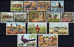D0026 ZAMBIA 1975, SG 226-39  Definitives, Local Scenes,  Used - Zambia (1965-...)