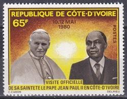 Elfenbeinküste Ivory Coast Cote D'Ivoire 1980 Religion Christentum Papst Johannes Paul II. Pope, Mi. 641 ** - Côte D'Ivoire (1960-...)