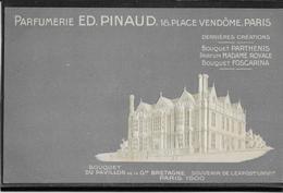 Paris Exposition 1900 - Publicité Parfumerie Pinaud 18 Place Vendôme - Carte  Neuve - Pavillon De La Grande Bretagne - Exhibitions