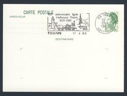 France Rep. Française 1989 Card / Karte / Carte - 150 Ann Ligne Mulhouse - Thann (1839-1989) / Eisenbahn - Treinen