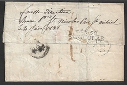 1828 - LAC - DEBOURSÉ 52 ST. NICOLAS ( MEURTHE ) - De 55 METZ - FAUSSE DIRECTION - Ind. 21 - Marcophilie (Lettres)