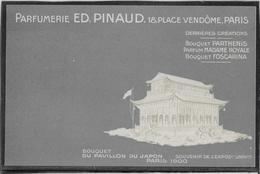 Paris Exposition 1900 - Publicité Parfumerie Pinaud 18 Place Vendôme - Carte Gaufrée  Neuve - Pavillon Du Japon - Exhibitions