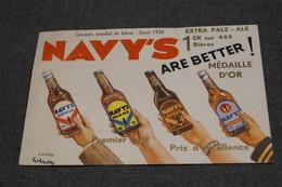 RARE,belle Carte Publicitaire Bière Pale-Ale Navy's ,originale 1958, Pour Collection - Publicité