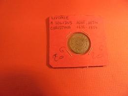 LIVONIE 1 SOLIDUS ARGENT 1645-1654 CHRISTINA - Estonia