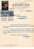 B3231- Marsala, Fattura Vini Marsala Gambina 1929 - Italie