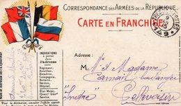 CP-  Correspondance Des Armées De La République-- 4 Drapeaux  T Et P N°*149* - Marcophilie (Lettres)