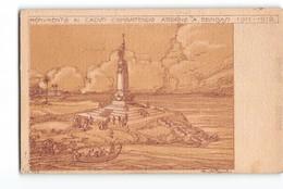 11393 MONUMENTO AI CADUTI COMBATTENDO ATTORNO A BENGASI 1911-1912 - TIMBRI DERNA CIRENAICA - COMANDO MILITARE ZONA - Monumenti Ai Caduti