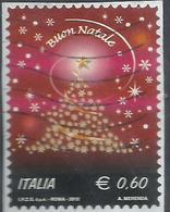 ITALIA REPUBBLICA ITALY REPUBLIC 2012 NATALE ALBERO DI STELLINE CHRISTMAS NOEL NAVIDAD NATAL E 0,60 USATO USED OBLITERE' - 6. 1946-.. Repubblica