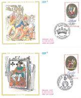FDC Bicentenaire De La Révolution Française Liberté (69 Villeurbanne 18/03/1989) Egalité (80 Ermenonville 22/04/1989) - FDC