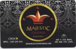 Carte Clé Hôtel Avec Pub Casino : PANAMA : Hard Rock Hotel Megapolis : Majestic Casino - Hotelkarten